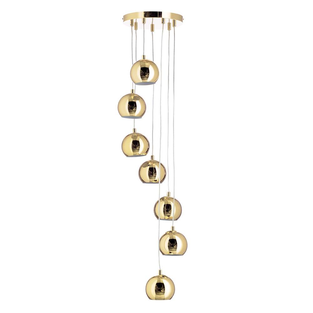 Benson Cluster Ceiling Pendant, Polished Brass