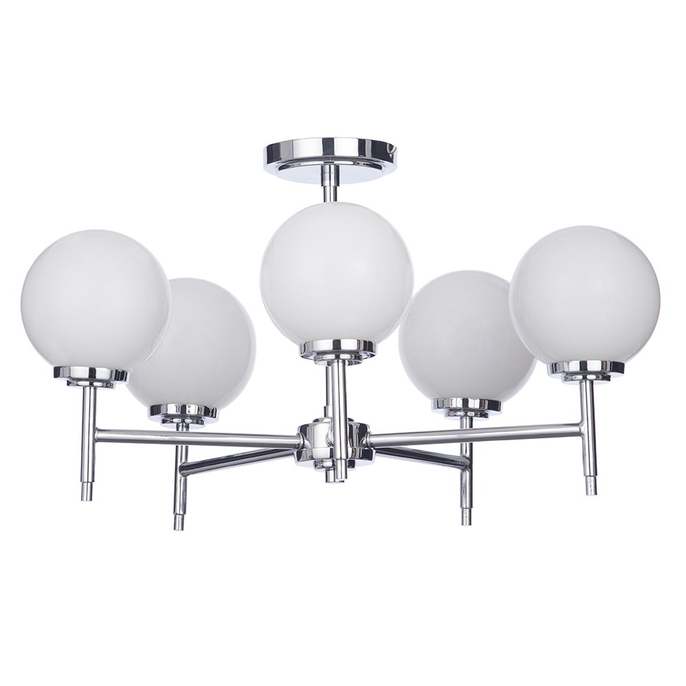 Douro Bathroom Semi-Flush Ceiling Light, Chrome