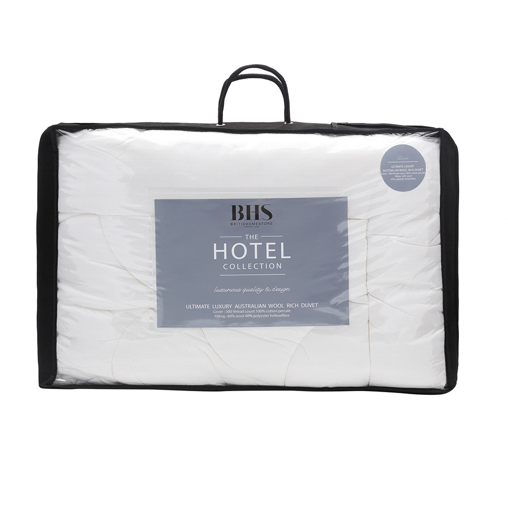 General Lighting Accessories 5 Star Hotel Collection 10.5 Tog Australian Wool Duvet, Double