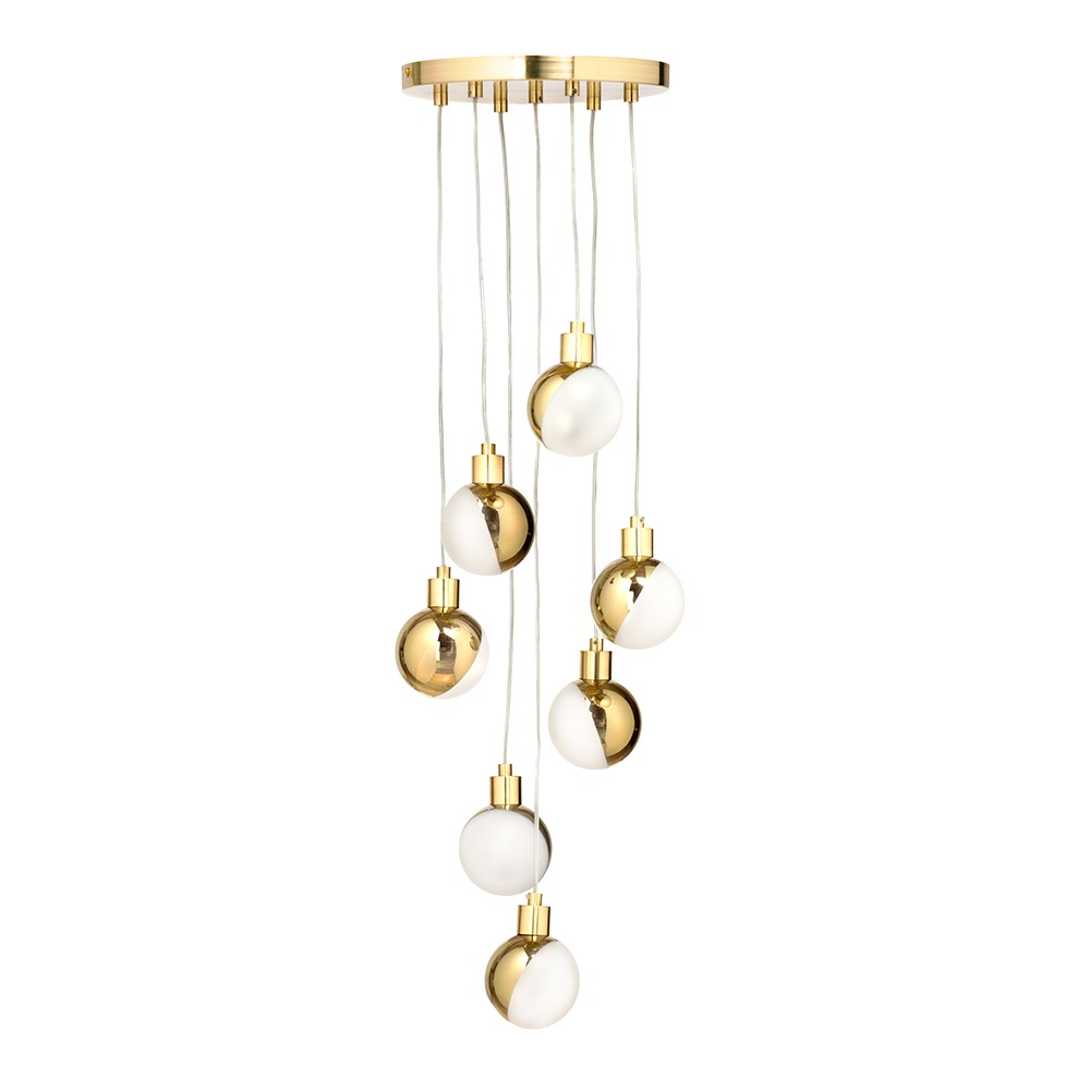 Cleveland Cluster Pendant, Brass