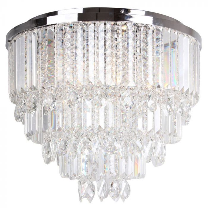 Ella Flush Ceiling Light Chrome Bhs