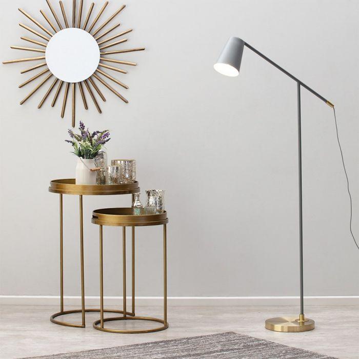 Morlie Task Floor Lamp Grey Bhs