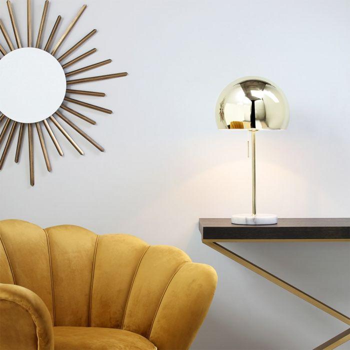 Benson Dome Shade Floor Lamp, Copper | BHS