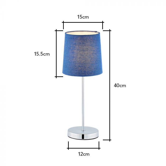 Mira Touch Stick Table Lamp Navy Bhs, Touch Nightstand Lamps