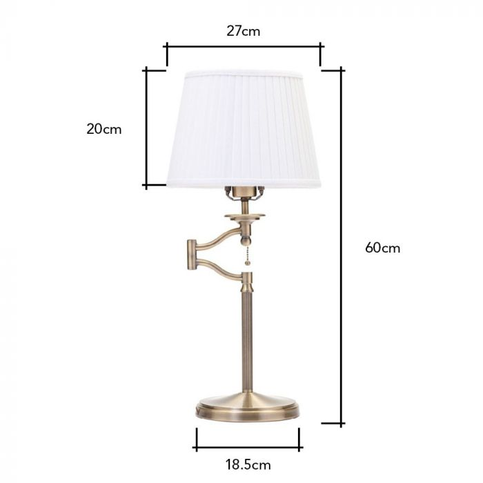 Swing Arm Floor Lamp Antique Nickel