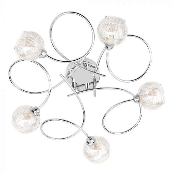 Cooper Floor Lamp, Chrome & Champagne | BHS