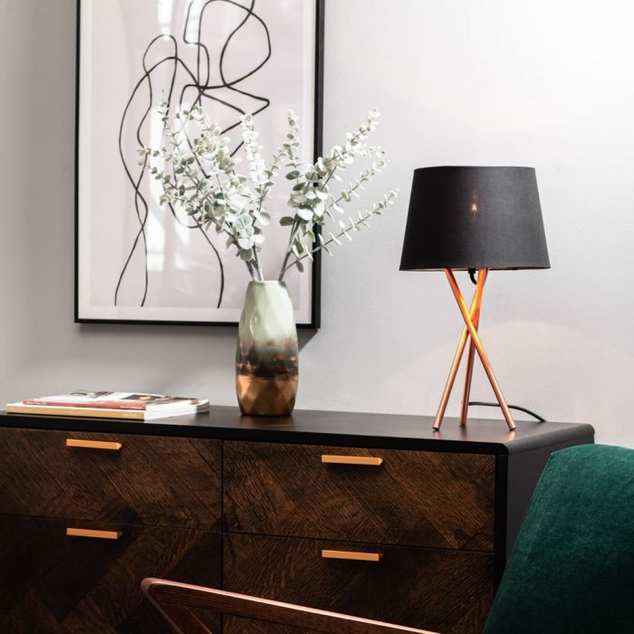 Drey Table Lamp Brushed Copper Bhs