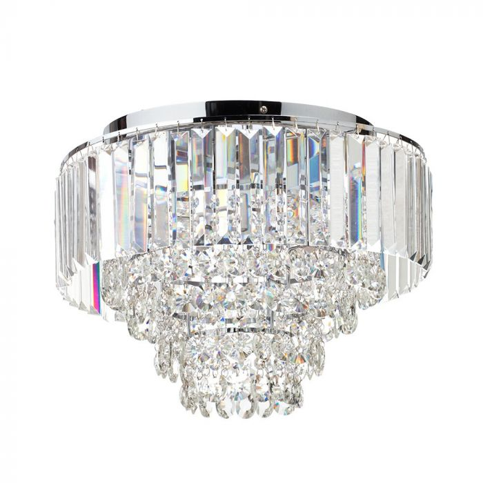 Paladina Flush Ceiling Light Chrome Bhs