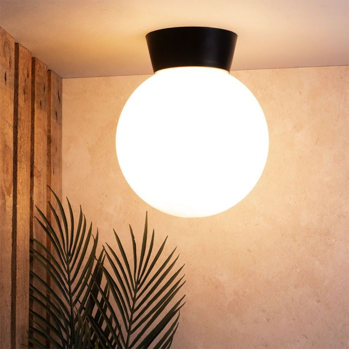 Westray Outdoor Globe Ceiling Light, Globe Outdoor Light Ceiling