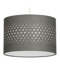 30cm Laser Cut Easyfit Shade, Grey lit on white
