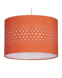 30cm Laser Cut Easyfit Shade, Burnt Orange