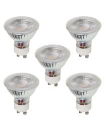 5 Pack 3W LED GU10 Light Bulbs, Natural White