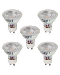 5 Pack 3W LED GU10 Light Bulbs, Natural White