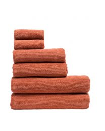 6 Piece Cord Cotton Towel Bale, Brick