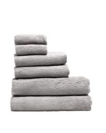 6 Piece Cord Cotton Towel Bale, Dark Grey