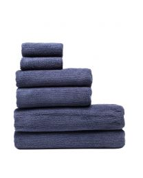 6 Piece Cord Cotton Towel Bale, Navy