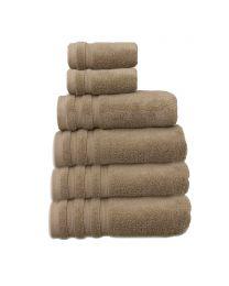 6 Piece Ultra Soft Towel Bale, Truffle