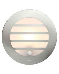 Stanley Azure Outdoor Circular Wall or Ceiling Light with PIR Sensor - Steel