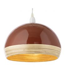 Bamboo Dome Easyfit Shade, Burnt Orange