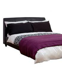 Pleated Bedspread, Aubergine