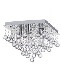 Tampa Large Bathroom Flush Ceiling Light Chrome