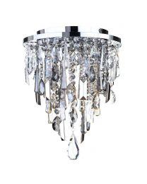 Jennifer Flush Ceiling Light with Mixed Cut Glass