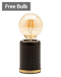 Romano Marble E27 Vessel Table Lamp with 80mm Bulb thumbnail