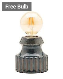 Tizzo Retro Vessel Table Lamp, Dark Grey thumbnail