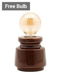 Tizzo Retro Vessel Table Lamp with 95mm Bulb, Dark Honey thumbnail