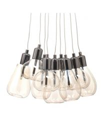 Carina Cluster Pendant, Black Chrome