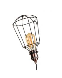 Carter Cage Table Lamp, Bronze & Black