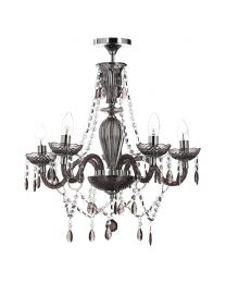 Charlotte Semi Flush Ceiling Light, Smoke