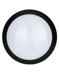 Stanley Como IP66 Outdoor LED Flush Ceiling or Wall Light - Black