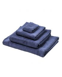 Cord Bath Towel, Navy