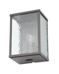 Douglas Outdoor Wall Light with Frosted Glass Panels, Black