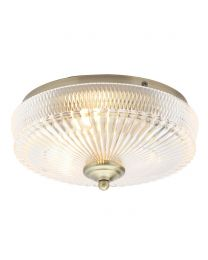 Erin Flush Light, Antique Brass