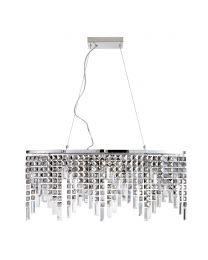 Esme Diner Ceiling Pendant, Chrome