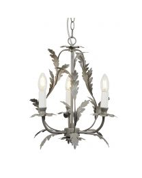 Flo 3 Light Chandelier, Grey