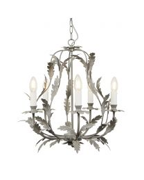 Flo 5 Light Chandelier, Grey