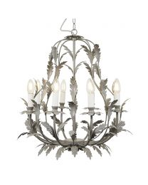 Flo 8 Light Chandelier, Grey