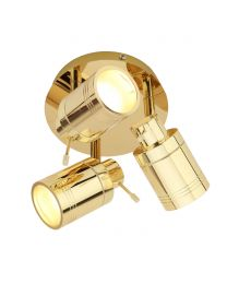 Hector Bathroom Ceiling Spotlight Plate, Brass