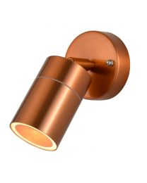 Jared Single Outdoor Wall Light, Copper