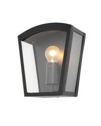 Kerr Outdoor Lantern Curved Wall Light, Black