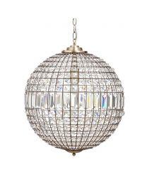 Large Ursula Ball Pendant, Brass