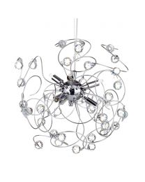Lila Sputnik Ceiling Light, Chrome