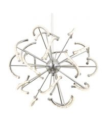 Mae LED Ceiling Pendant, Chrome