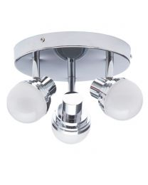 Maura Bathroom Spotlight Plate, Chrome