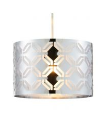Metallic Lasered Easyfit Shade, Silver lit on white