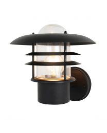 Millar Tiered Fisherman Style Outdoor Wall Lantern, Black
