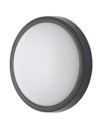 Orkney Outdoor LED Circular Wall Light, Black